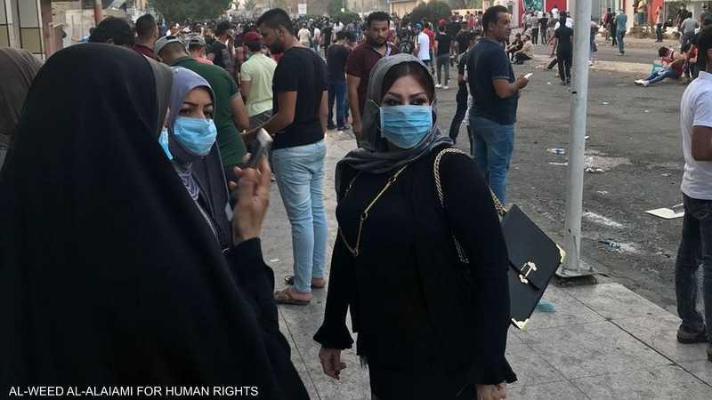 شاركت العلي أبناء البصرة في تظاهراتهم
