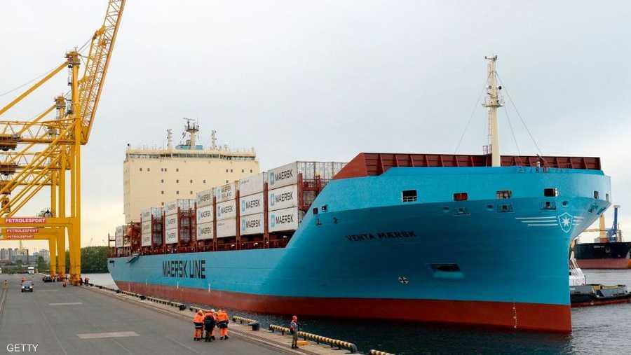 السفينة تعود لشركة ميرسك للنقل البحري.