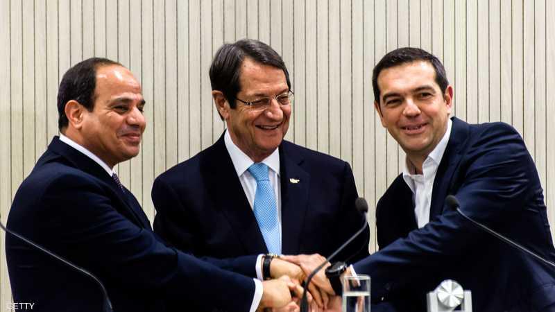 وسط خلاف مع تركيا.. قمة مصرية يونانية قبرصية