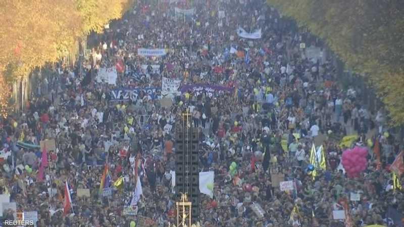 احتجاجات عارمة في شوارع برلين ضد العنصرية في ألمانيا 1-1190715.JPG