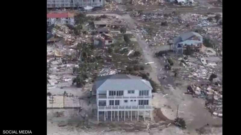 حجم الدمار يظهر واضحا ومنزل كينغ صمد بمفرده