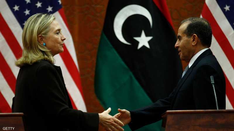 كلينتون وجبريل في طرابلس