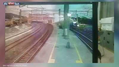 فيديو للحادث القاتل.. لحظة خروج قطار فائق السرعة عن مساره