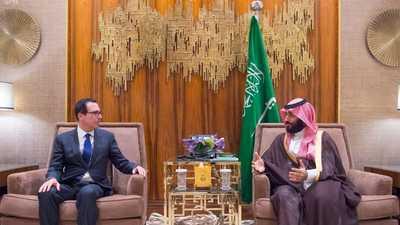 محمد بن سلمان ووزير الخزانة الأميركي يؤكدان أهمية الشراكة