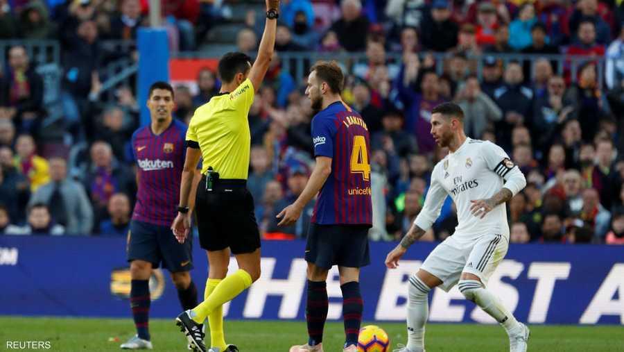 قائد ريال مدريد سيرجي راموس وإنذار كالمعتاد