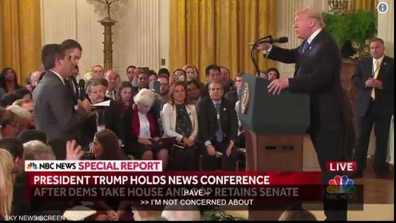 ترامب يثور خلال مؤتمر صحفي