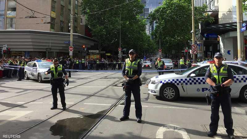 انتشار قوات الشرطة الأسترالية في موقع الحادثة