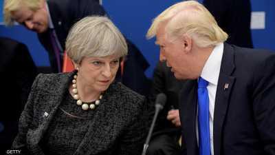 من طائرة الرئاسة.. ترامب يوبخ رئيسة وزراء بريطانيا