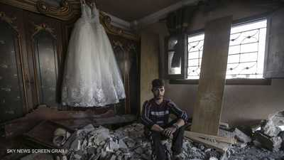 عروس سورية هربت من الحرب فلاحقها القصف في غزة