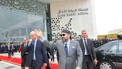 العاهل المغربي يدشن محطة قطار جديدة في الرباط
