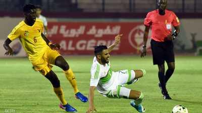 محرز سجل هدفين في رباعية الجزائر