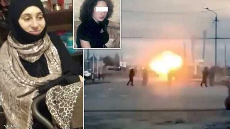 المرأة فجرت نفسها على بعد أمتار من الشرطة.