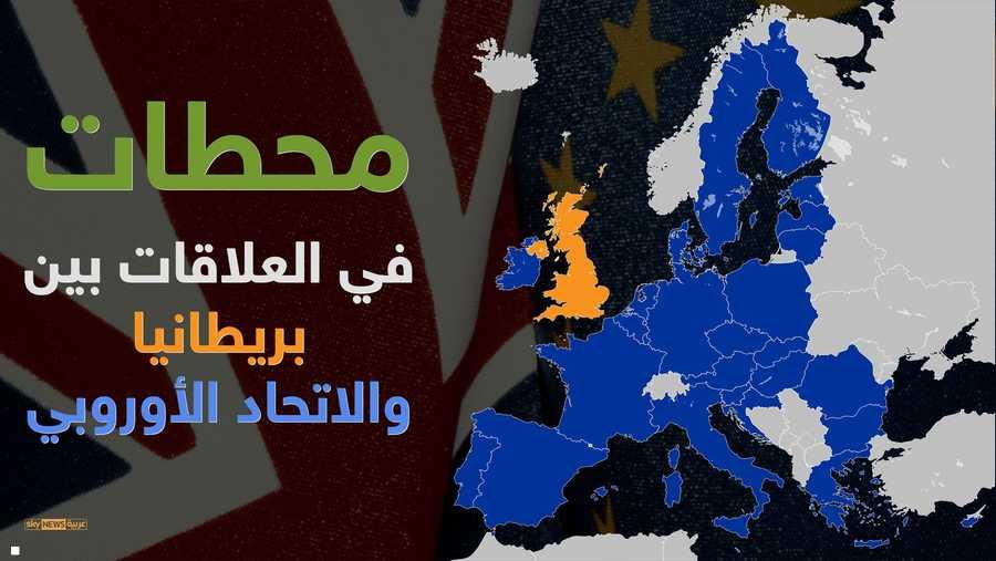 """بريطانيا والاتحاد الأوروبي.. 57 عاما حتى """"البريكست"""""""