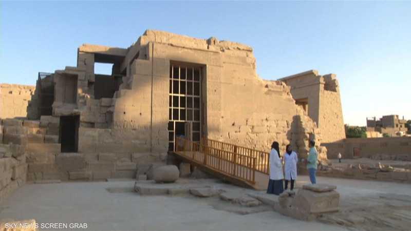 أعمال ترميم لمعابد مصرية قديمة تراعي حاجات أصحاب الهمم