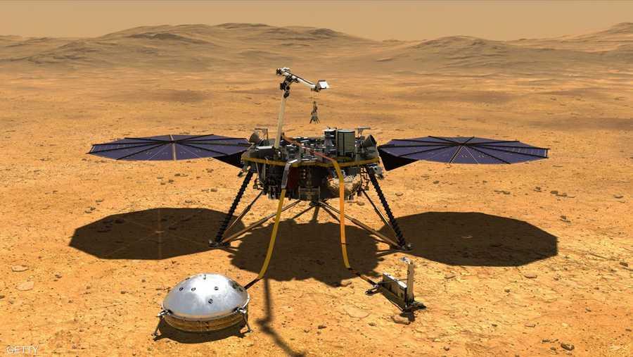 إنسايت هي أول مركبة مخصصة لاستكشاف ما تحت سطح كوكب المريخ