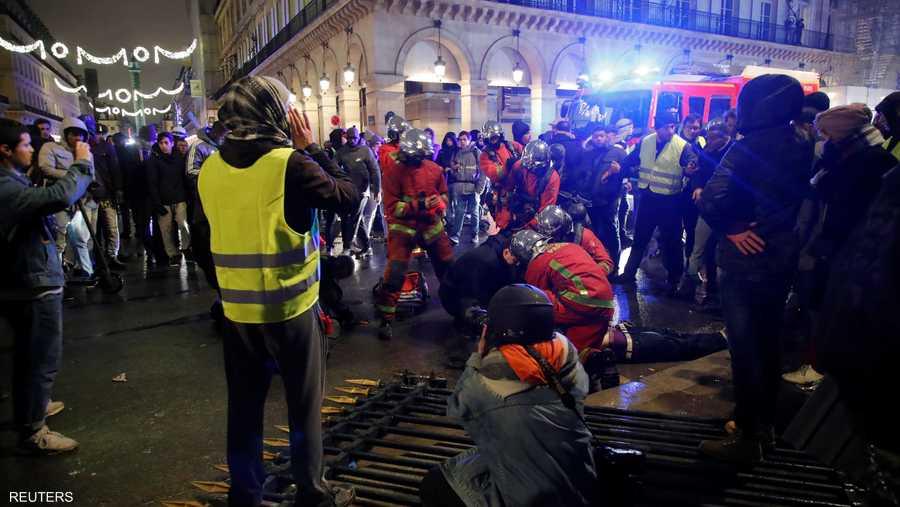 السلطات اعتقلت أكثر من 250 محتجا من ذوي السترات الصفراء
