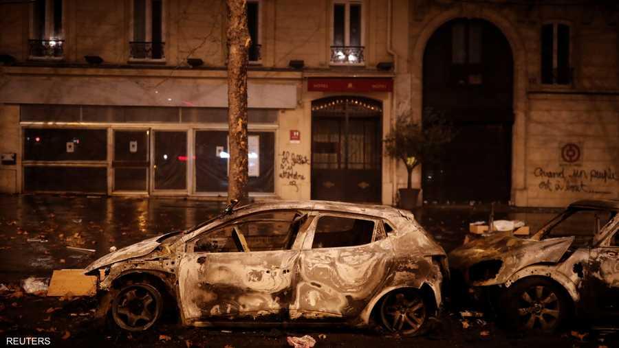 مواجهات الشرطة والمحتجين خلفت خسائر في الممتلكات