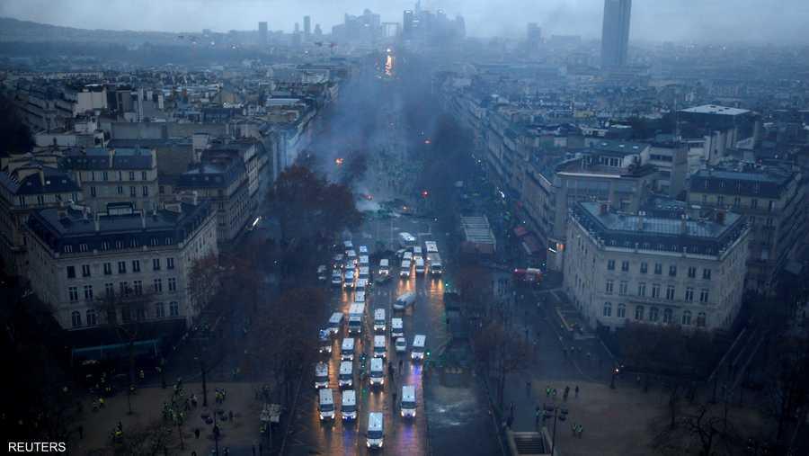 الاحتجاجات أربكت أهم موقع سياحي في العاصمة باريس