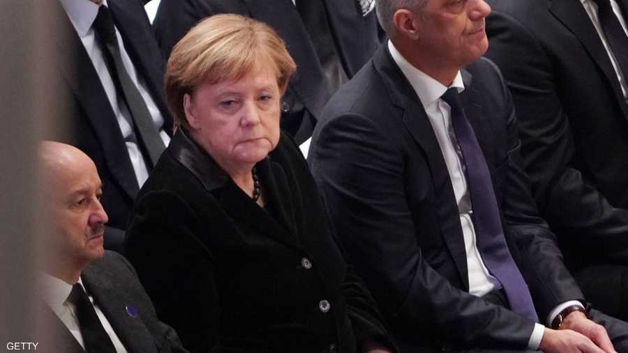مستشارة ألمانيا أنغيلا ميركل شاركت في التأبين