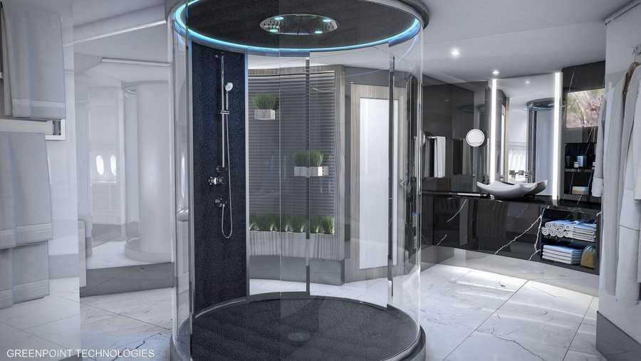 حجرة الاستحمام تصميم مستقبلي من غرينوينت تيك