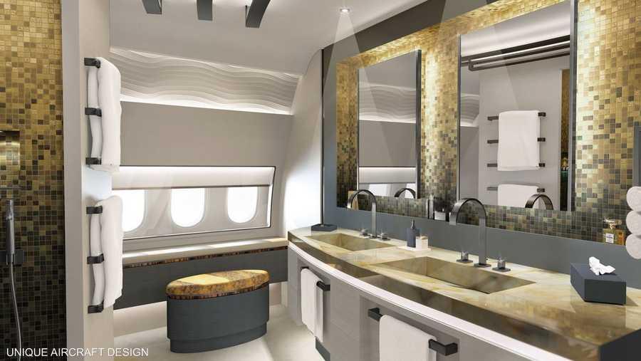 الحمام الرئيسي من تصميم يونيك إيركرافت