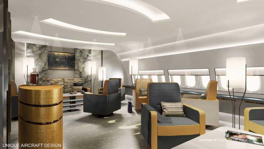 قاعة الجلوس من تصميم يونيك إيركرافت
