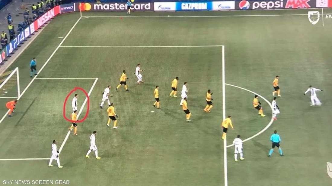 ألغي الهدف بسبب تدخل رونالدو في الكرة