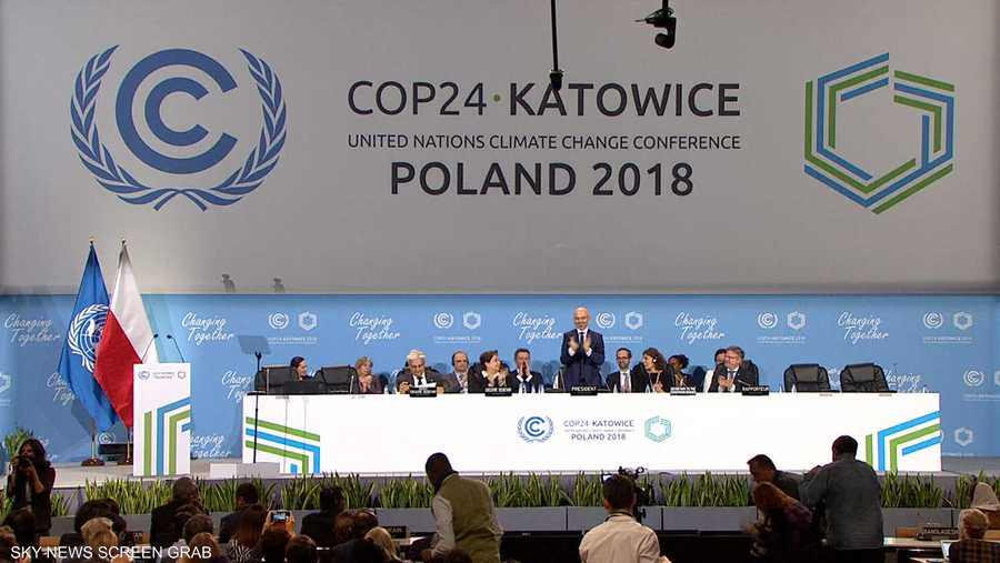 3 ديسمبر، اجتمع المؤتمر 24 للأمم المتحدة بشأن المناخ ببولندا