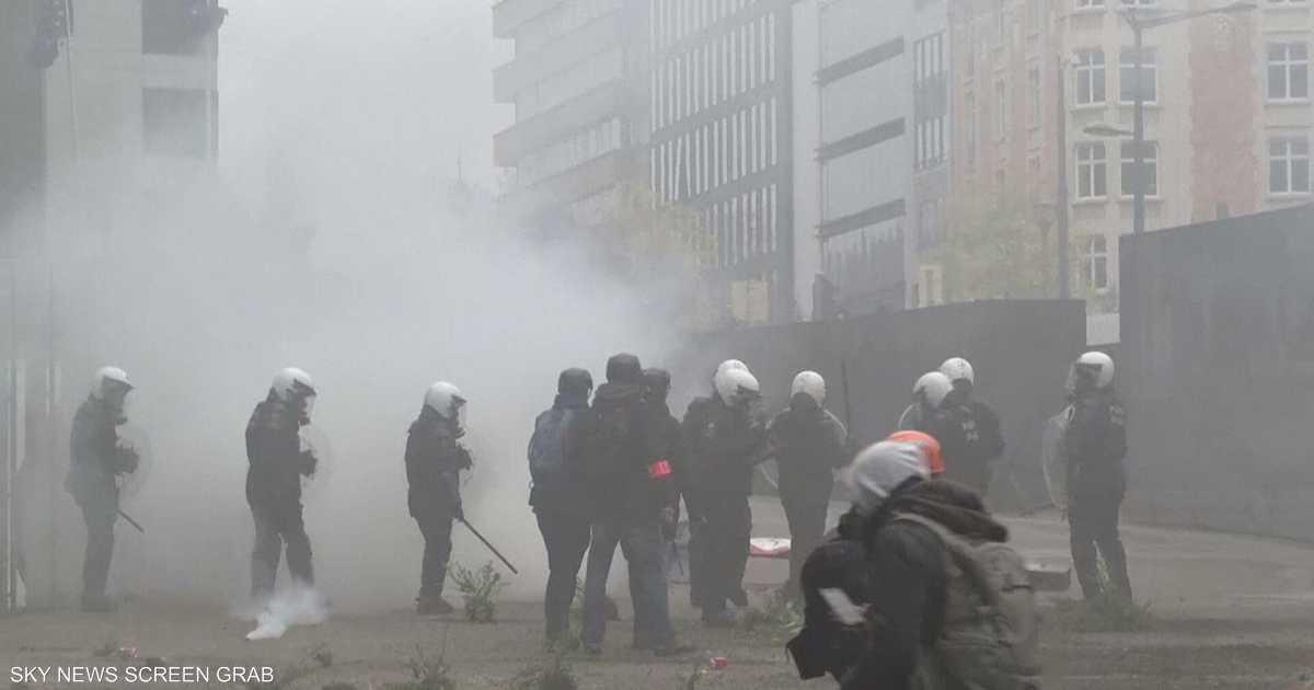 قانون الهجرة يشعل بلجيكا.. صدامات بشوارع بروكسل