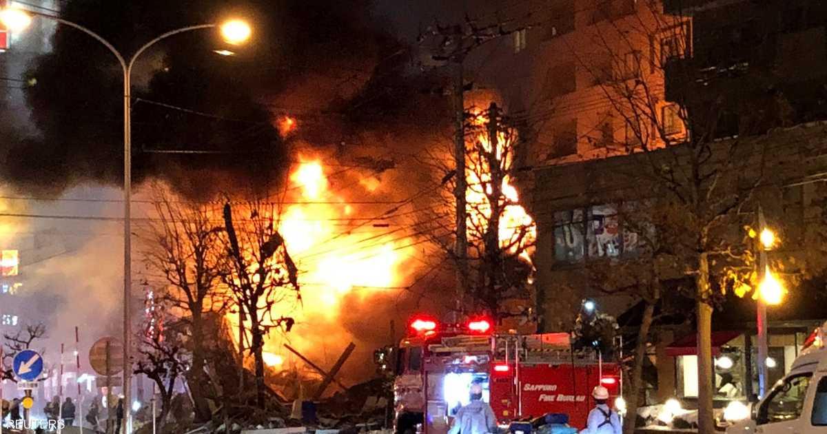 عشرات المصابين في انفجار ضخم باليابان