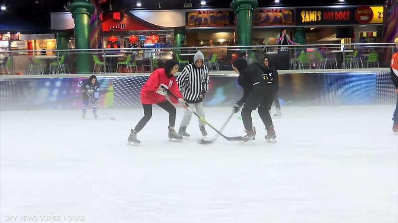 جدة.. إقبال واسع للفتيات على الرياضات الجليدية