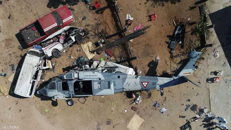 مروحية عسكرية أميركية تتحطم وتقتل العشرات في المكسيك
