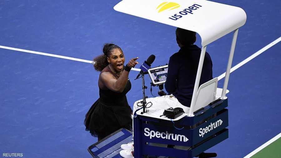 """""""انهيار"""" سيرينا وليامز في نهائي بطولة أميركا المفتوحة"""