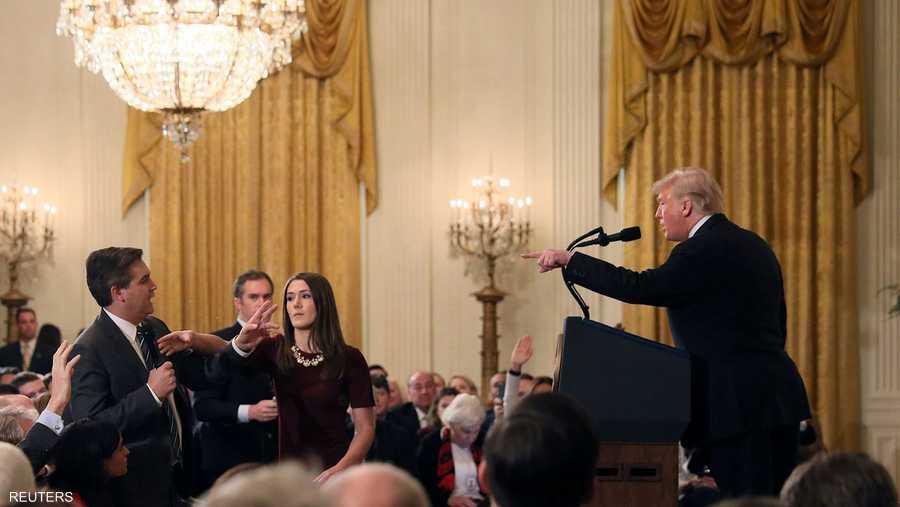 ترامب يهاجم مراسل سي أن أن جيم أكوستا على الهواء مباشرة