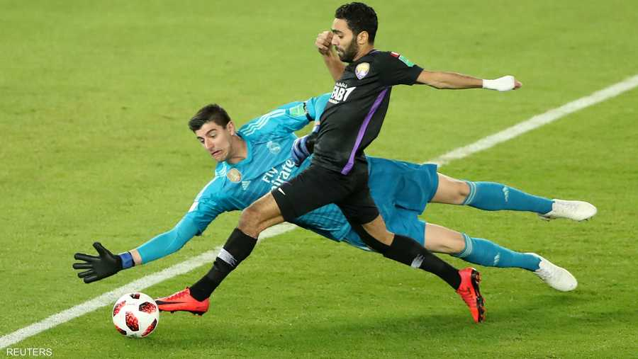 أتيحت للنادي الإماراتي خلال المباراة فرص لتسجيل أهداف