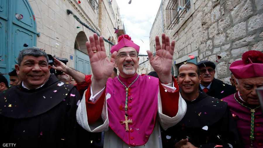 ترأس القداس رئيس أساقفة البطريركية اللاتينية