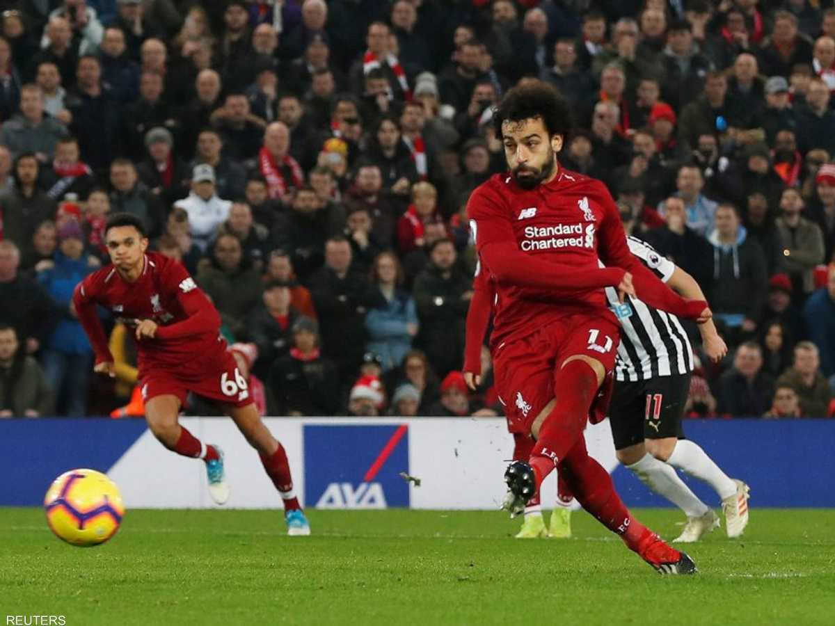 محمد صلاح أحرز هدفا في المباراة من ركلة جزاء