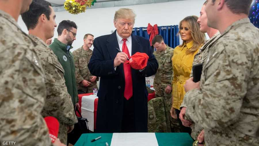 أمضى ترامب وميلانيا 3 ساعات في القاعدة