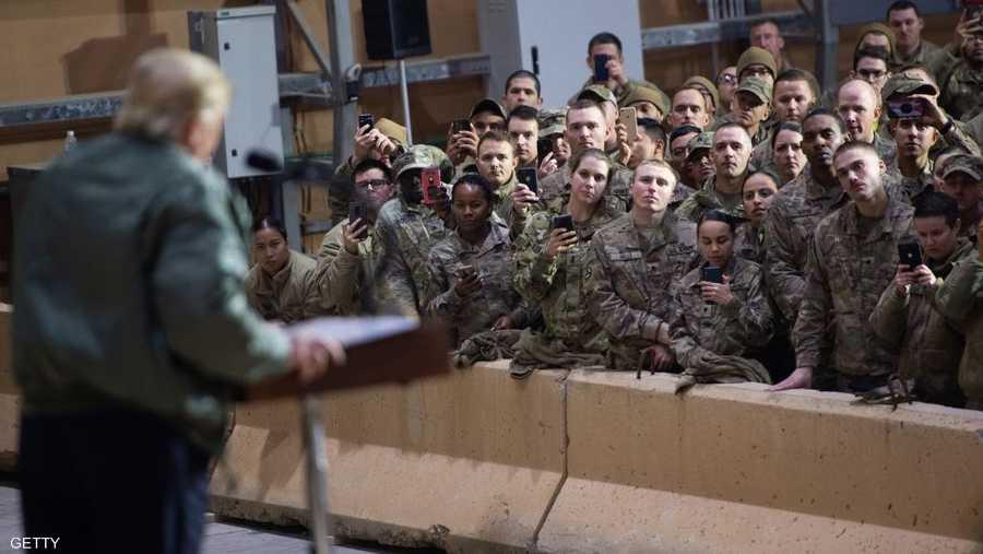 تحدث ترامب مع الجنود بمناسبة حلول عيد الميلاد