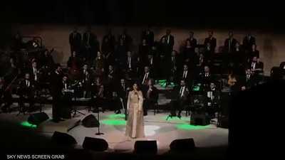 ماجدة الرومي تتألق في افتتاح مهرجان شتاء طنطورة