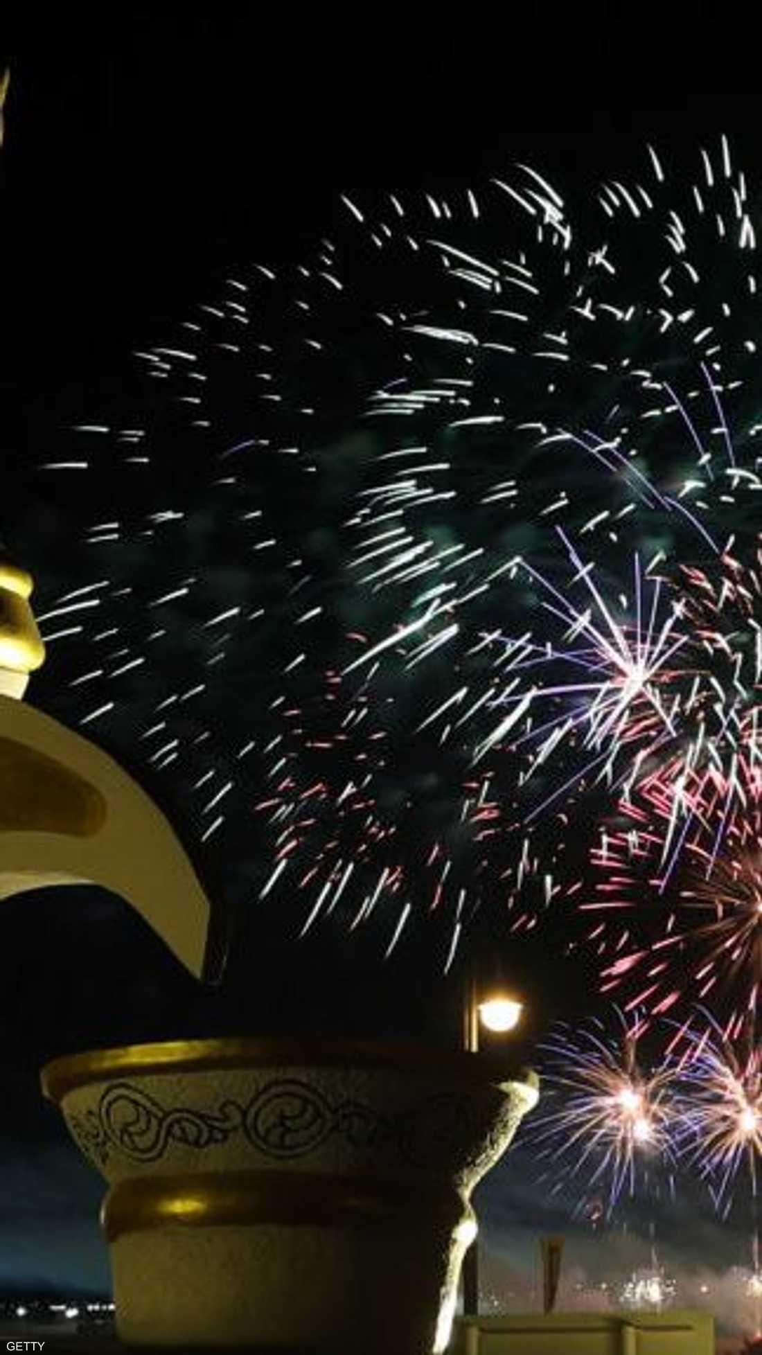 جانب من الاحتفالات في أبوظبي
