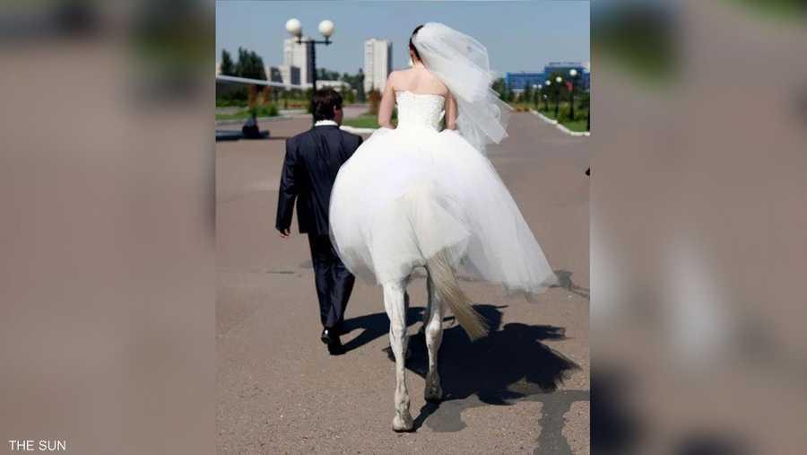 المرأة الفرس في طريقها لإتمام الزواج