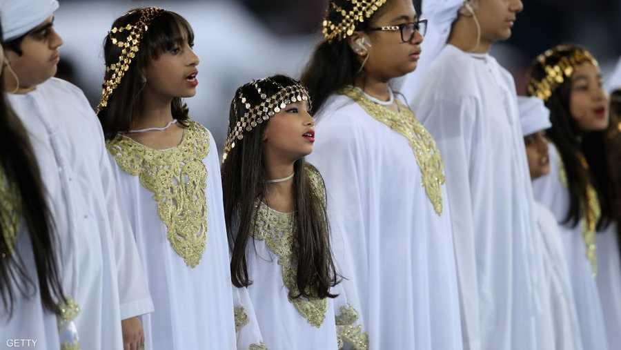 أطفال الإمارات كان لهم حضور في الافتتاح