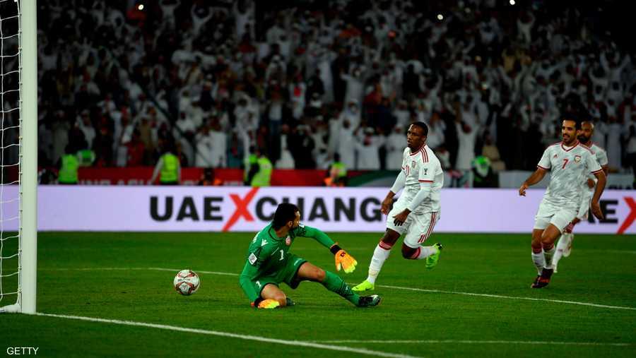 الإمارات عادلت النتيجة في الدقائق الأخيرة لينتهي اللقاء بنتيجة 1-1