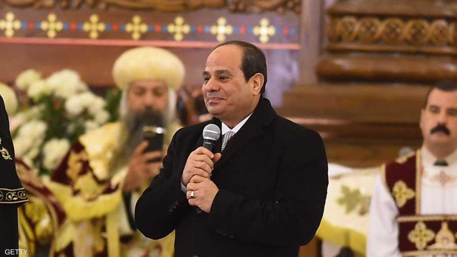 """قال السيسي في كلمة ألقاها لدى افتتاح الكاتدرائية: """"اللحظة دي لحظة مهمة في تاريخنا ... احنا (نحن) واحد وهنفضل واحد""""، في إشارة إلى المسلمين والمسيحيين المصريين."""