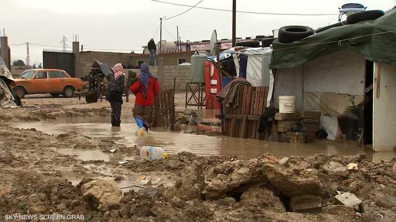 """معاناة في مخيمات اللاجئين بسبب """"نورما"""""""