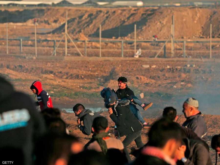 b1c8c336fad17 غزة.. قتيلة ومصابون في