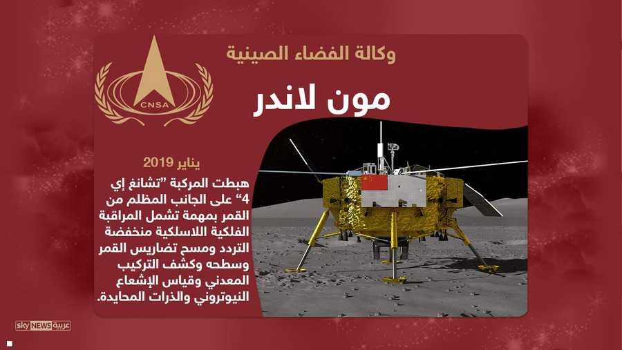 وهبطت مركبة صينية على الجانب المظلم من القمر عام 2019
