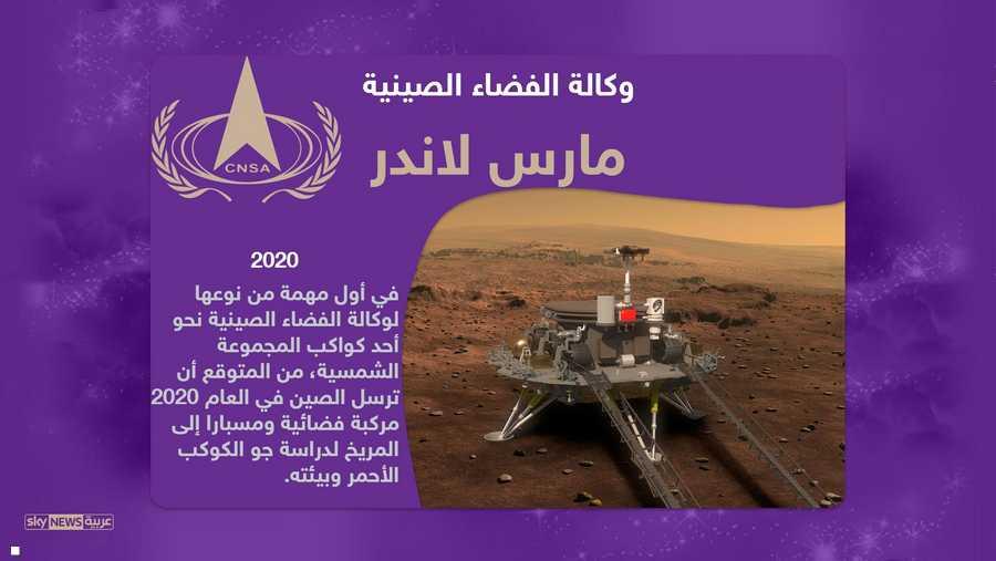 ومن المقررة أن تطلق الصين مركبتها الأولى إلى المريخ عام 2020