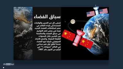 """إنفوغرافيك.. أميركا والصين و""""سباق خارج الأرض"""""""